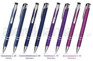 Długopisy reklamowe z grawerem Cosmo - dostępne kolory